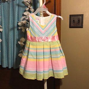 Jessica Ann baby infant Pastel sleeveless dress